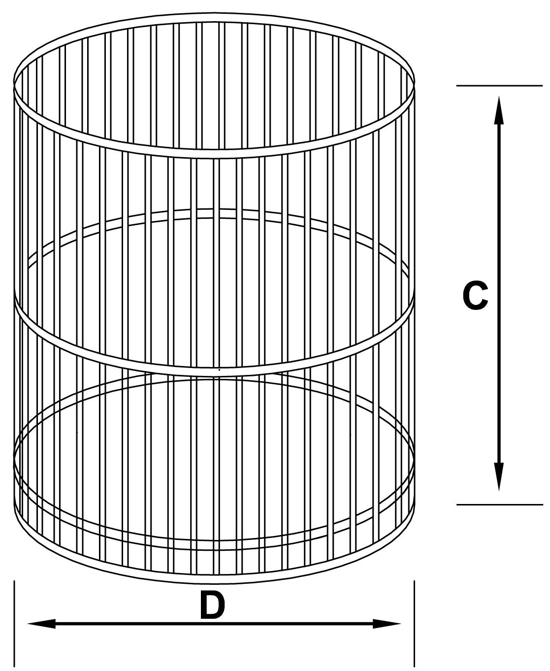 kosze okrągłe ocynkowane - schemat