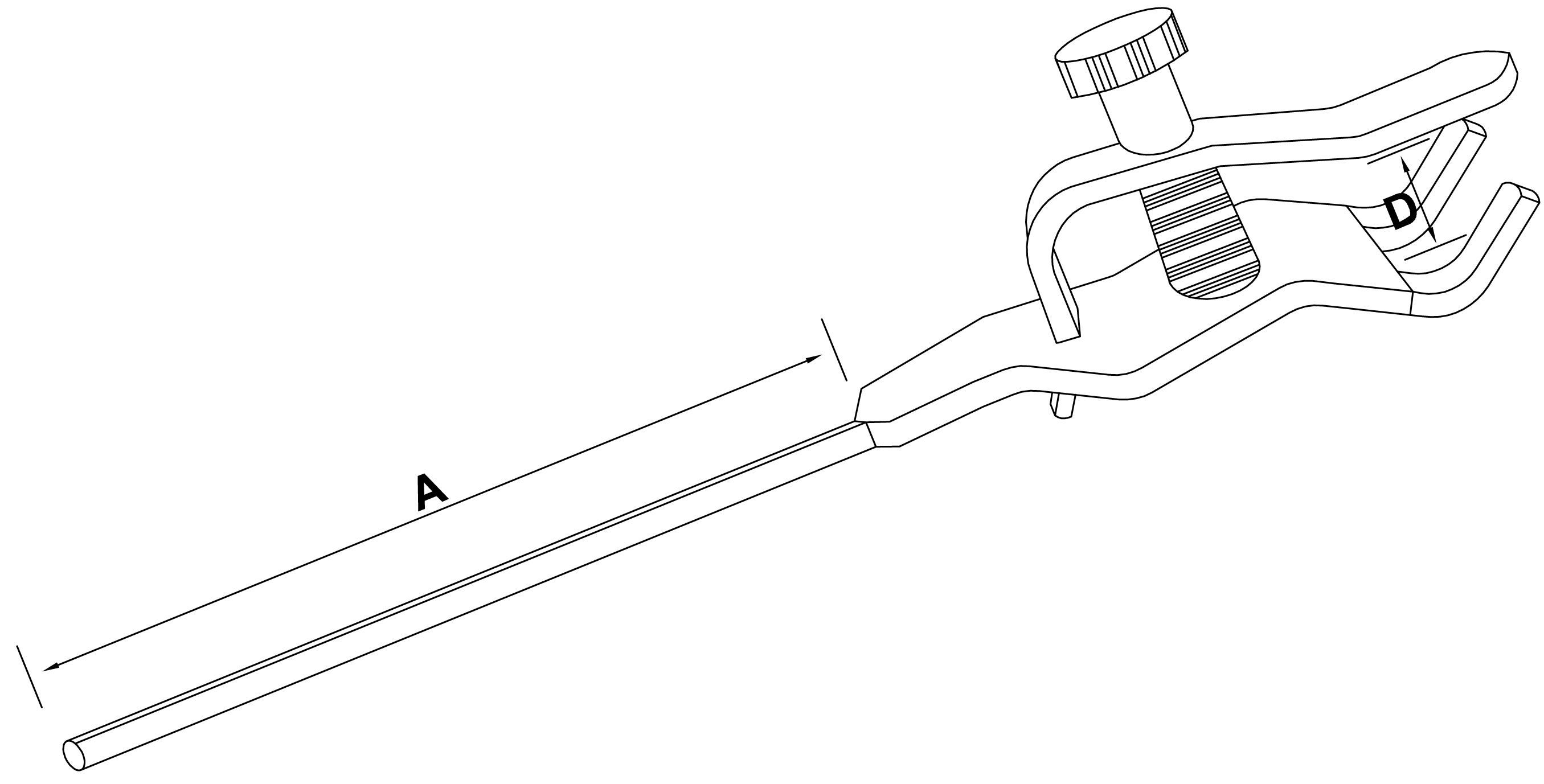 single burette clamp - schemat