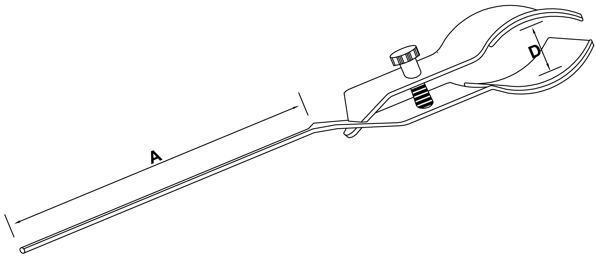 large flask clamp - schemat