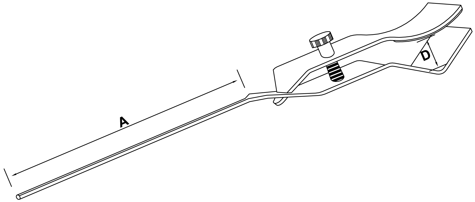 small flask clamp - schemat