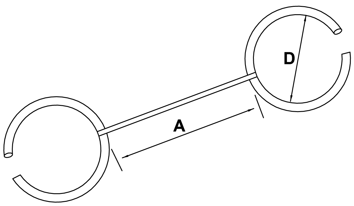 double open rings - schemat