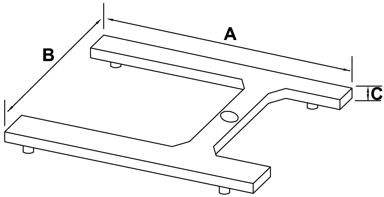 H-förmiges lackiertes Stahlgestell - schemat