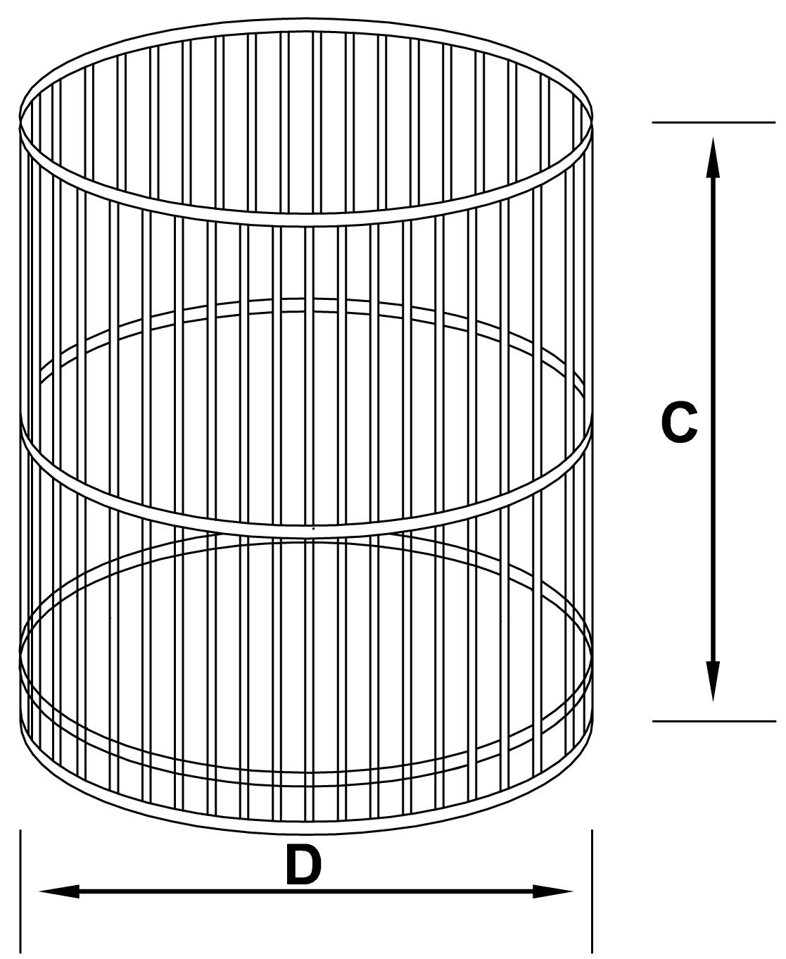 runde rostbeständige Körbe - schemat