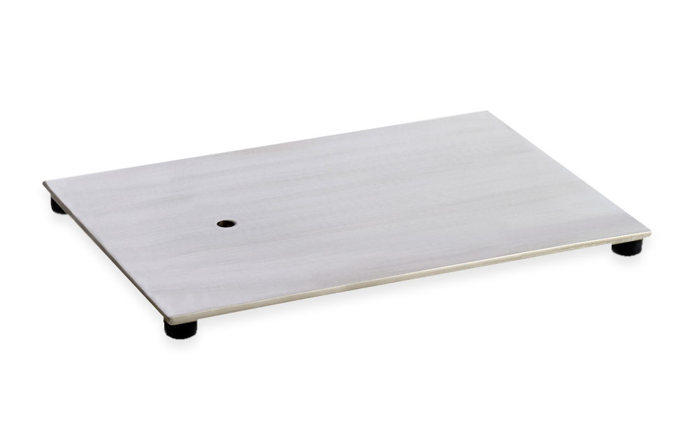 rectangular stainless steel base
