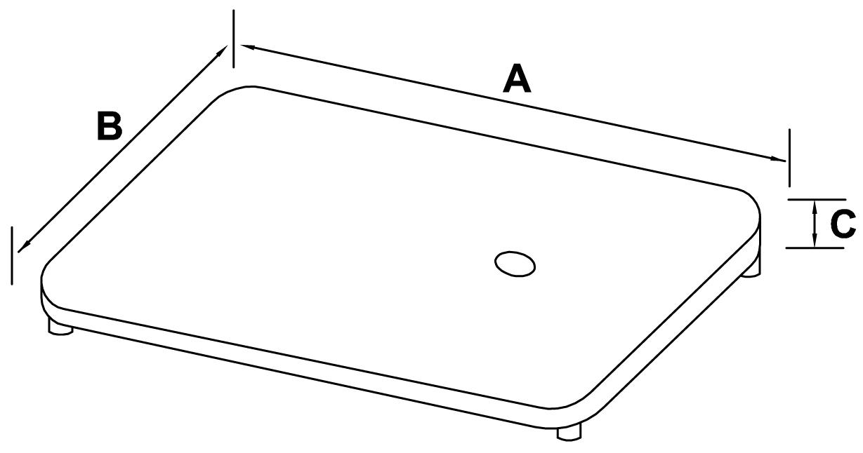 podstawa stalowa tłoczona nierdzewna - schemat